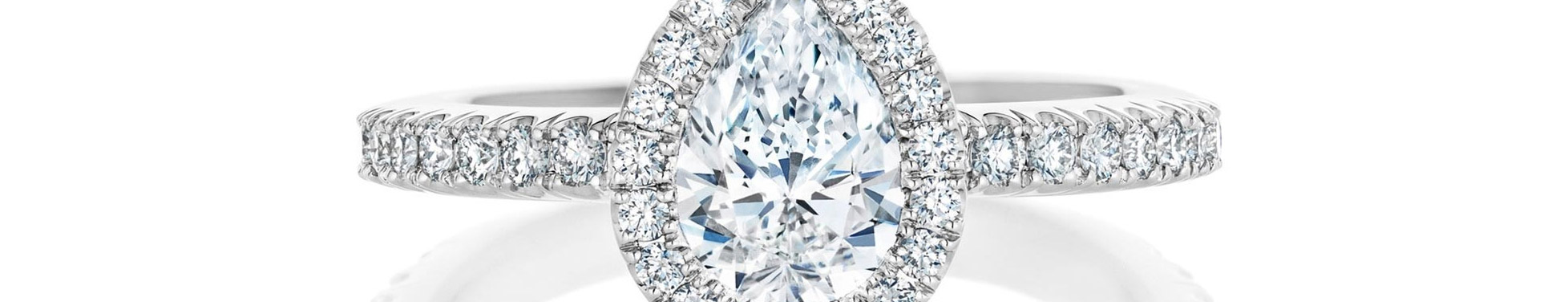 Halo Pear ShapeDiamond Ring