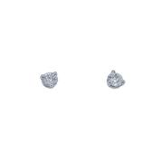 0.26cttw Round Diamond Studs Three Prongs
