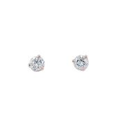 0.46cttw Round Diamond Stud Earrings, 14k Rose Gold