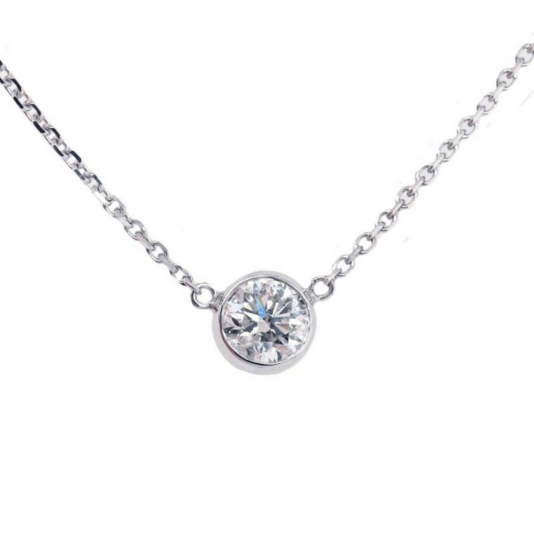 0.51ct Round Diamond Bezel Necklace