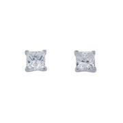 1.02cttw Diamond Princess Stud Earrings