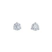 Round Diamond Stud Earrings 1.04 carat total weight