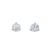 Round Diamond Stud Earrings 1.50 carat total weight