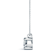 14k Round Diamond Solitaire Pendant