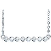 14k Gold 1/4ctw Diamond Bar Necklace 16