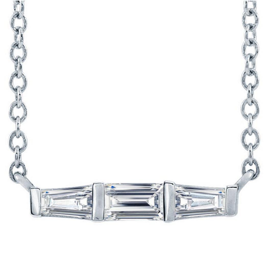 14k Gold 1/8ctw Diamond Bar Necklace 18