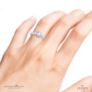 Milgrain Edge Solitaire Engagement Ring