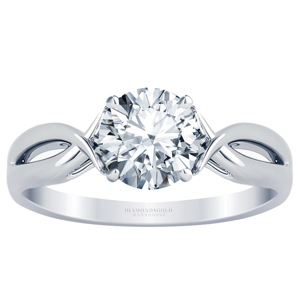 Fishtail Infinity Twist Solitaire Engagement Ring