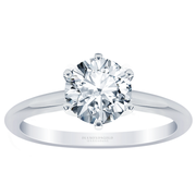 Round Diamond Six Prong Solitaire Engagement Ring