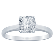 Cushion Diamond 14k Cathedral Solitaire Engagement Ring