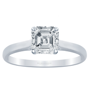 Asscher Diamond Cathedral Solitaire Engagement Ring