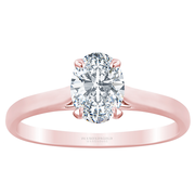 Oval Diamond Cathedral Solitaire Engagement Ring