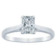 Radiant Diamond Cathedral Solitaire Engagement Ring