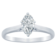 Marquise Diamond Cathedral Solitaire Engagement Ring