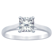 Princess Diamond - 14k Cathedral Solitaire Engagement Ring