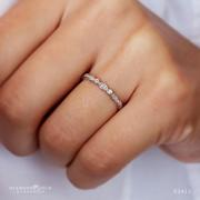 Stackable Diamond Band - Vintage Bezel Style