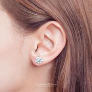 2.08cttw Round Diamond Stud Earrings
