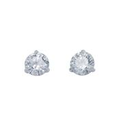 Round Diamond Stud Earrings 2.08 carat total weight