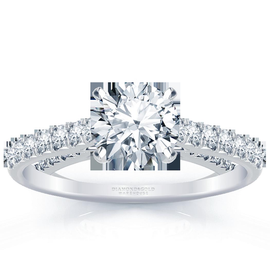 18k Classic Round Diamond Engagement Ring 1/3ctw