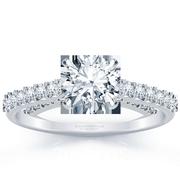 18k Classic Round Diamond Engagement Ring