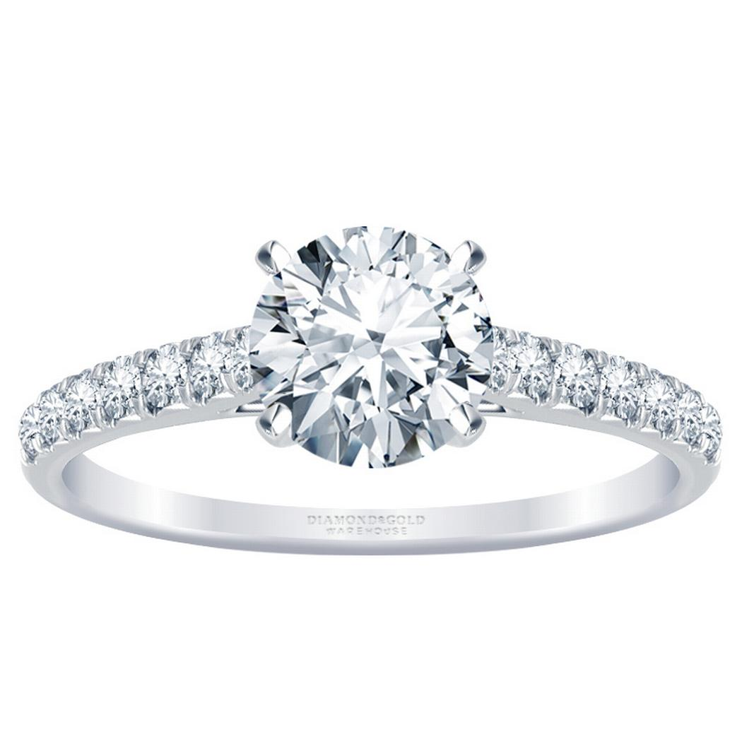 Classic Round Diamond Engagement Ring
