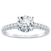 18k Classic Round Diamond Engagement Ring 1/3ctw