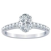Pave Oval Diamond Engagement Ring
