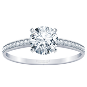 Round Diamond Channel Set Engagement Ring