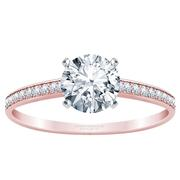 1/10ctw Diamond Channel Set Engagement Ring