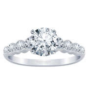 Round Diamond Milgrain Engagement Ring