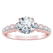 1/4ctw Diamond Milgrain Engagement Ring