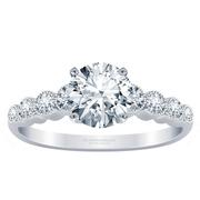 Diamond Engagement Ring Milgrain