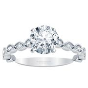 Diamond Vintage-Inspired Engagement Ring