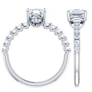 Asscher Diamond Engagement Ring,  2/5 ctw