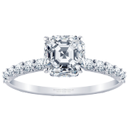 Asscher Diamond Engagement Ring,  2/5 ctw