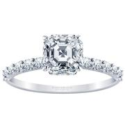 2/5ctw Asscher Diamond Engagement Ring