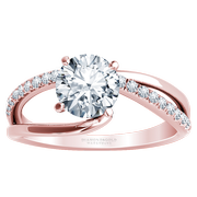 1/5ctw Asymmetrical Split Band Engagement Ring