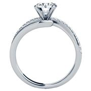 Round Diamond Engagement Ring - Split Shank