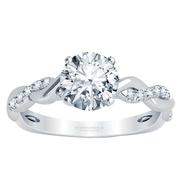 Round Diamond Engagement Ring - Braided Band
