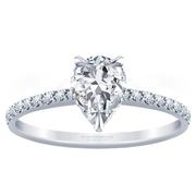 2/5ctw 14k Pear Diamond Engagement Ring