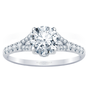 3/8ctw Split Band Engagement Ring with Diamond Accents