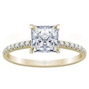 1/4ctw Princess Cut Diamond Engagement Ring