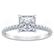 1/4ctw Princess Cut Diamond Engagement Ring