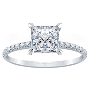 14k Princess Cut Diamond Engagement Ring, 1/4ctw