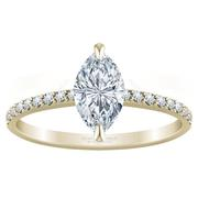 Petite Marquise Diamond Engagement Ring