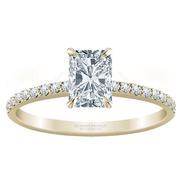 Petite Radiant Diamond Engagement Ring