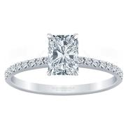 Petite Radiant Diamond Engagement Ring