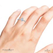 1/4ctw Petite Marquise Diamond Engagement Ring