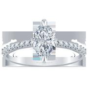 Petite Marquise Diamond Engagement Ring, 1/4ctw