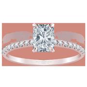 Petite Radiant Diamond Engagement Ring, 1/4 ctw